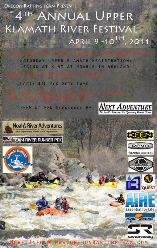 Upper Klamath River Festival 2011 Poster