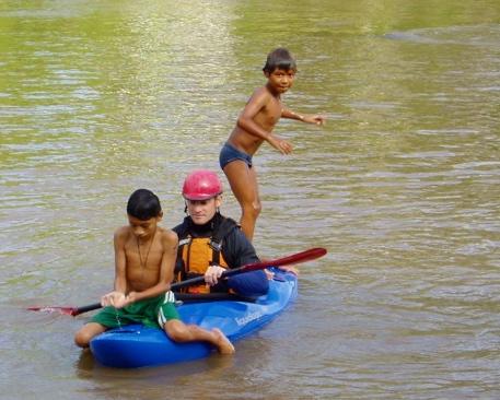 Ecuador locals enjoying ka