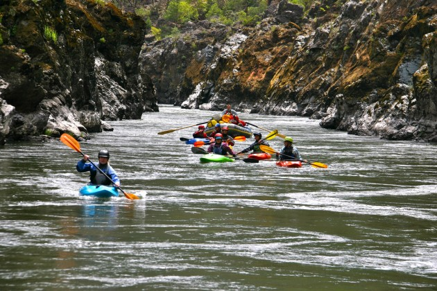 Kayaking through Mule Creek Canyon on the Rogue River