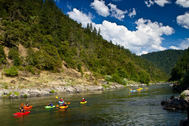 Kayaking on the Wild and Scenic section of the Rogue River