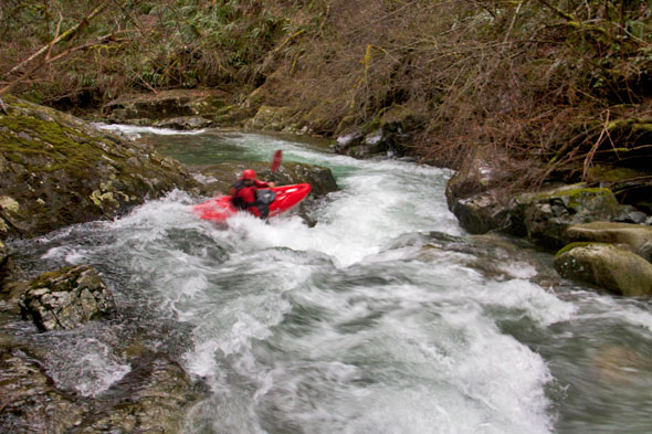 J.R. Boofing in one of the First Rapids