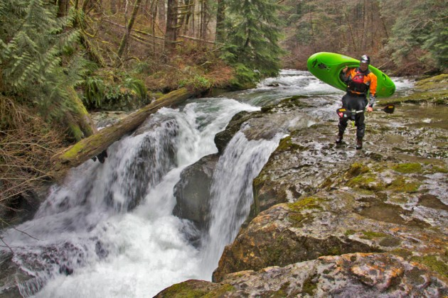 Portaging Double Falls