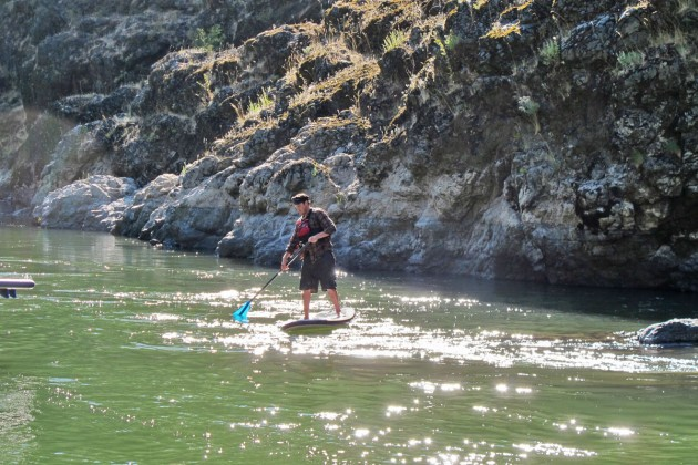 Stand Up Paddleboarding on the Rogue River
