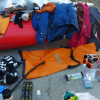 Packing for self support kayak trip