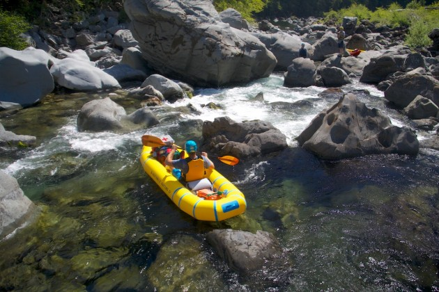 Inflatable kayaking in the lower Chetco River gorge