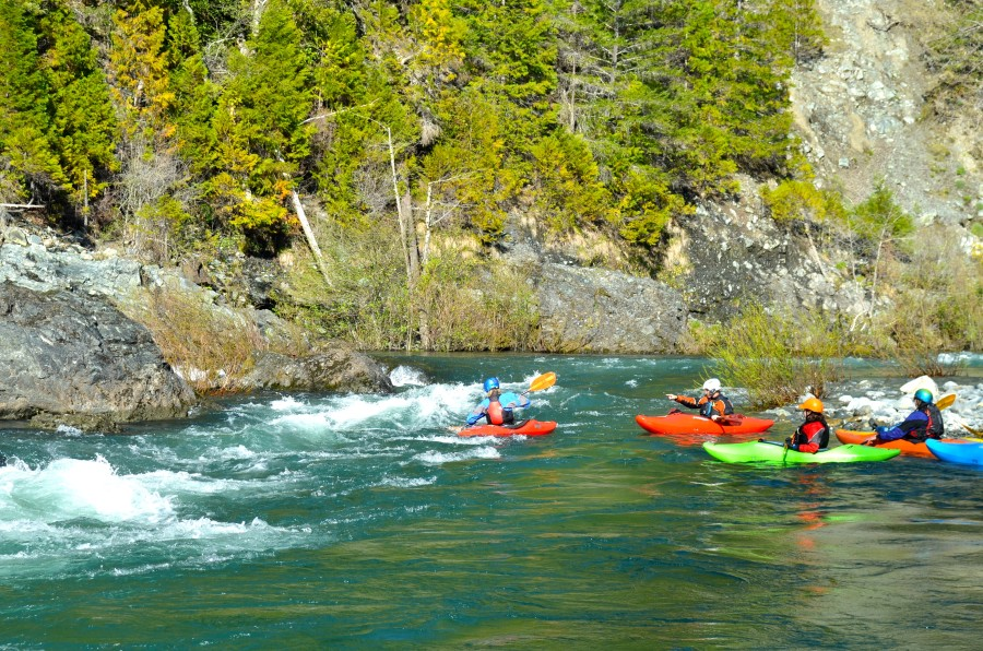 whitewater kayaking on the Smith River near Crescent City, CA