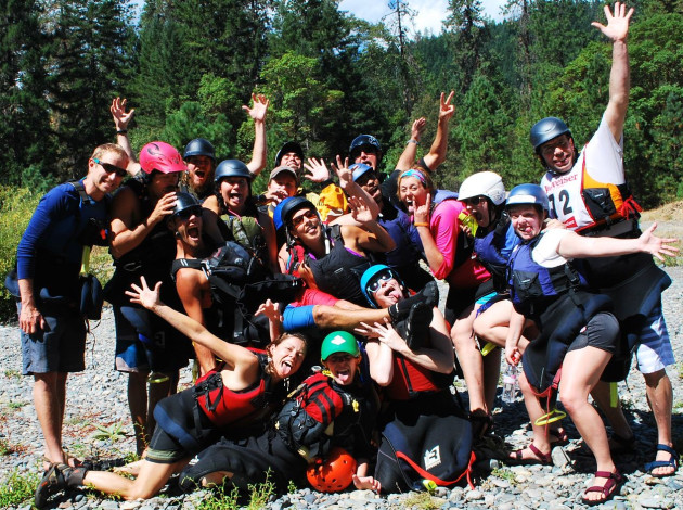 Sundance Kayak School participants ready for a overnight kayak trip