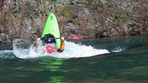 Playboating on the Smith River with Sundance Kayak School