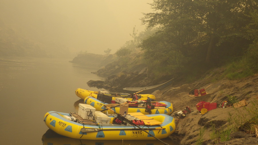 Sundance Staff rowed in gear to support the fire suppression efforts