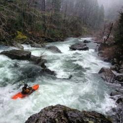 Dan Menten running Bowman's Falls