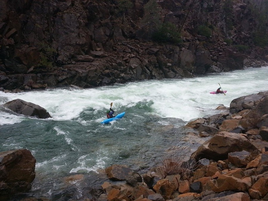 Scout Rapid on the North Fork Smith