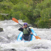 Charlie running the Fish Ladder at Rainy Falls on the Rogue River