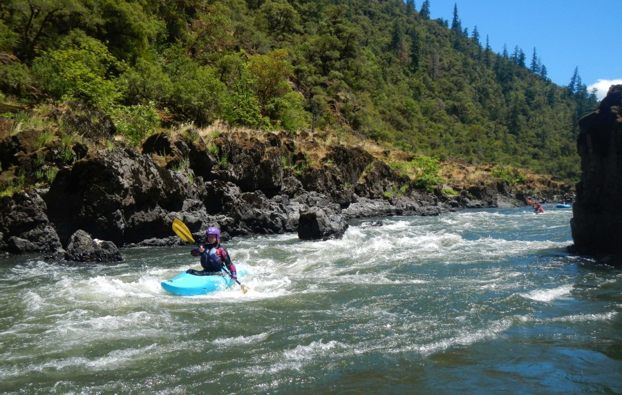 Zoe enjoying the Wild and Scenic Rogue River