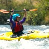 Megan Sach kayaking Oregon's Rogue River