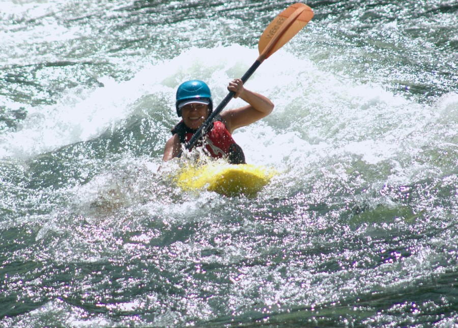 Megan Sach kayaking the Rogue River