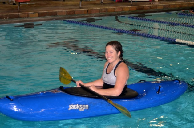pool session for kayakers