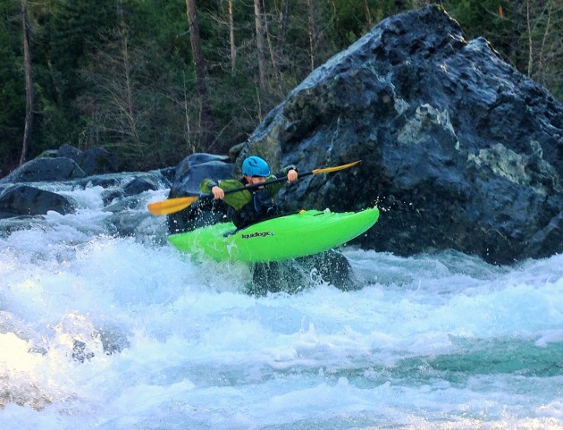 Libby hitting one of the many fun little boofs on the Chetco River. Photo: Jo Kemper