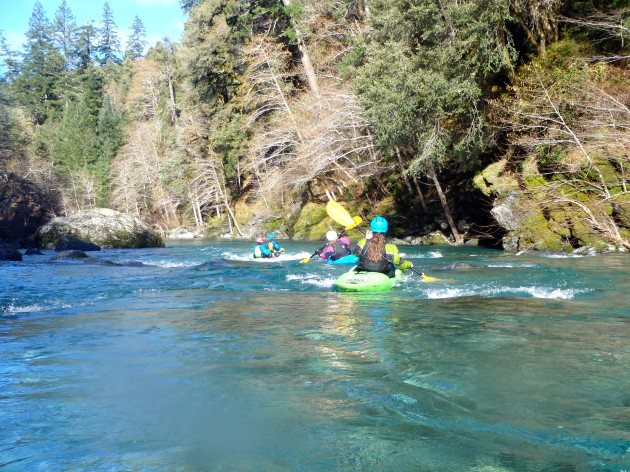Scenic flatwater on the Chetco River.   Photo: Lisa Byers