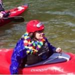 Hannah kayaking at First Descents