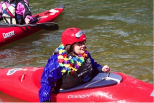 Hannah kayaking at First Descents