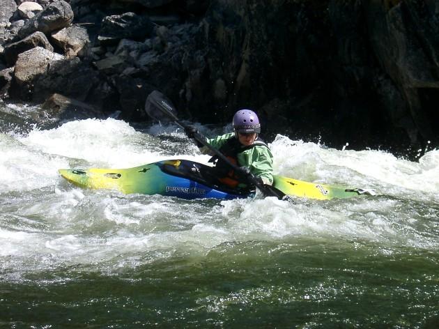 Kayaker Middle Fork Salmon River