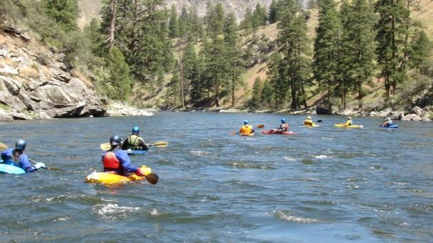 Kayaking Middle Fork Salmon River