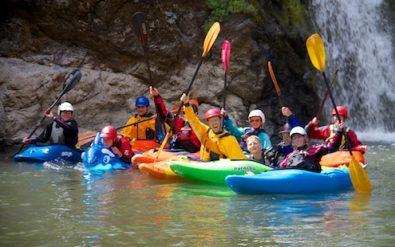 Kayak School paddling through Mule Creek Canyon on the Rogue River